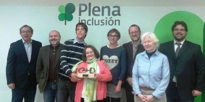 """Entregado el premio cermi.es 2015 a """"Léelo fácil"""" de Plena Inclusión"""