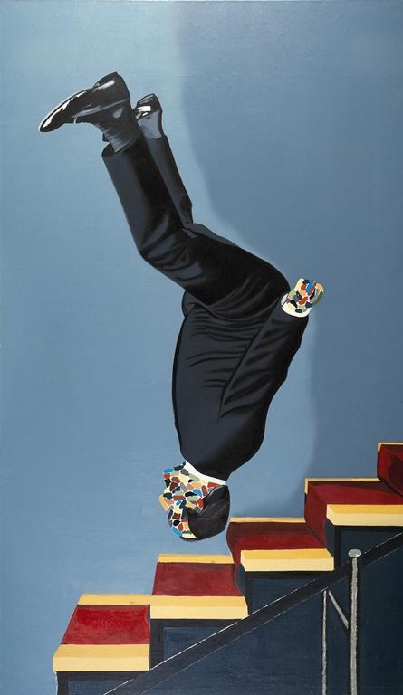 'Vestido bajando la escalera', de Eduardo Arroyo