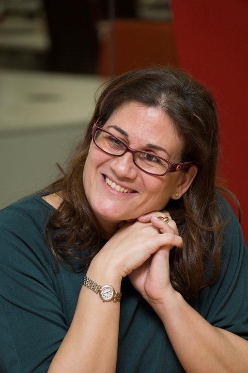 Bárbara Martín, Responsable de la Oficina Técnica de Asuntos Europeos de la ONCE, durante la entrevista, fotografiada por Jorge Villa
