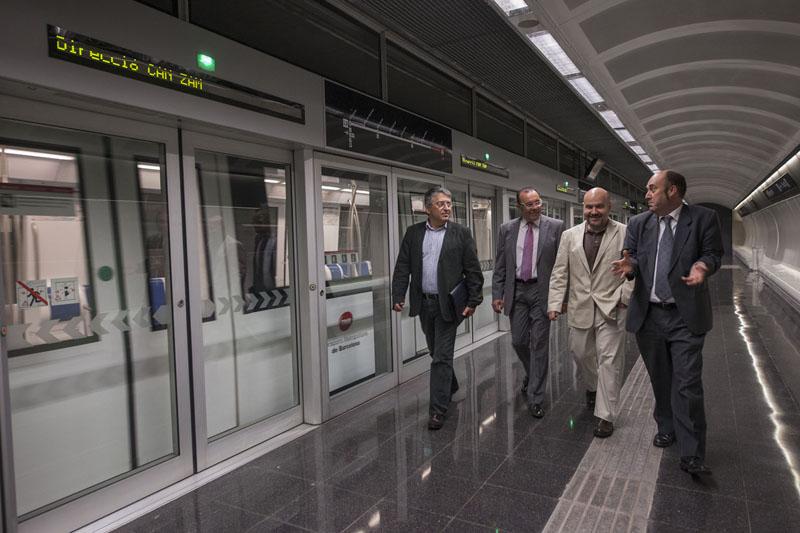 El presidente del CERMI visita Transportes Metropolitanos de Barcelona