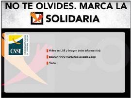 Imagen de la CNSE sobre la X solidaria
