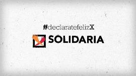 Cartel de la X Solidaria. Declárate feliz