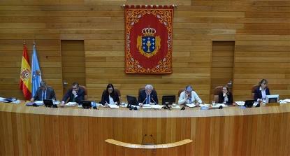 Detalle del Parlamento de Galicia
