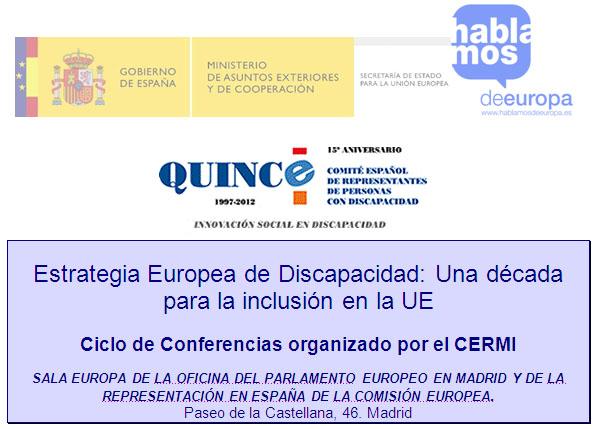 Ciclo de conferencias sobre la Estrategia Europea de Discapacidad
