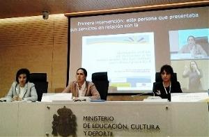 Ana Peláez, vicepresidenta ejecutiva de la Fundación CERMI Mujeres, durante su intervención