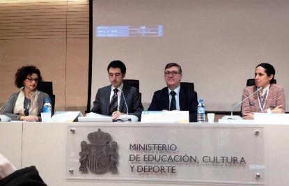 Mesa de inauguración de la Jornada 'El derecho a la educación de las niñas con discapacidad'