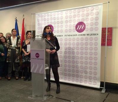 Isabel Caballero, coordinadora de la FCM en la presentación de la entidad el 13 de marzo de 2015