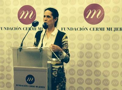 Ana Peláez en la presentación de la FCM en 2015