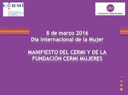 Portada del Manifiesto del CERMI y Fundación CERMI Mujeres