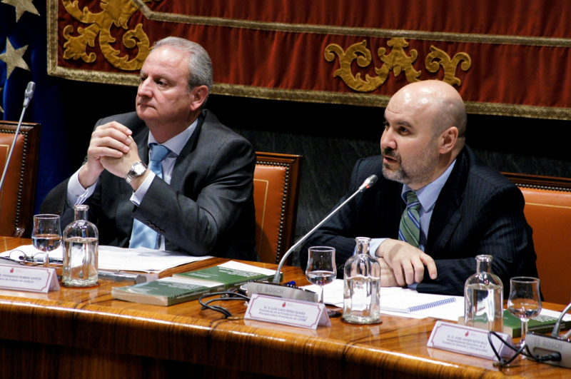 Fernando Román García, Secretario de Estado de Justicia y Luis Cayo Pérez Bueno, presidente del CERMI