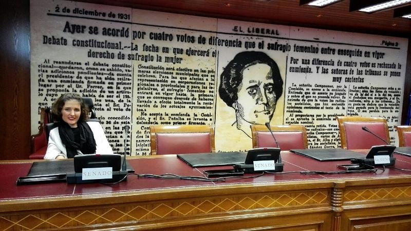 Virginia Felipe Saelices, senadora de Podemos por Castilla-La Mancha