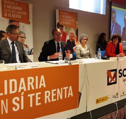 El ministro Alonso en la presentación de la X Solidaria 2016