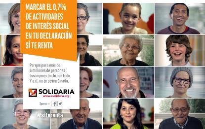 Cartel de la campaña de la X solidaria en la declaración de 2015