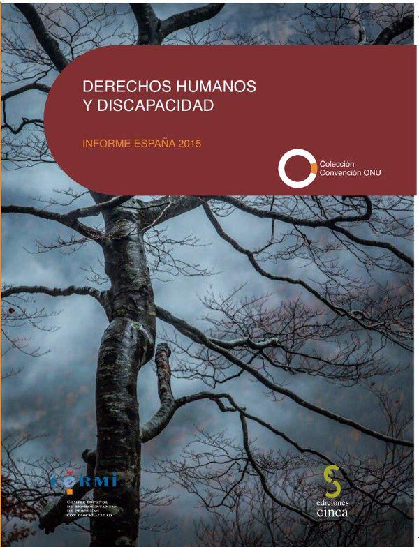 Portada de la publicación 'Derechos Humanos y Discapacidad. Informe España 2015'