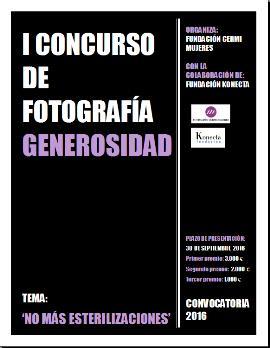 Cartel del concurso de fotografía sobre derechos humanos y niñas con discapacidad de Fundación CERMI Mujeres