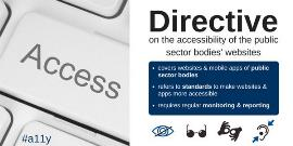 Ilustración sobre la Directiva europea que regula la accesibilidad de las web de organismos públicos