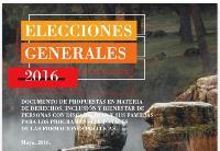 Elecciones Generales 2016. Documento de propuestas en materia de derechos, inclusión y bienestar de personas con discapacidad y sus familias para los programas electorales de las formaciones políticas
