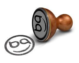 Image de un sello con el logotipo 'bequal'