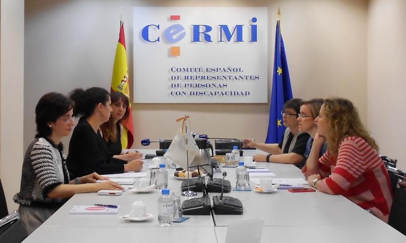 Fundación CERMI Mujeres mantiene un encuentro con Purificación Causapié, portavoz del Grupo Municipal Socialista de Madrid