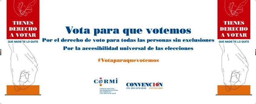 Vota para que votemos, convocatoria del CERMI del 17 de junio de 2016