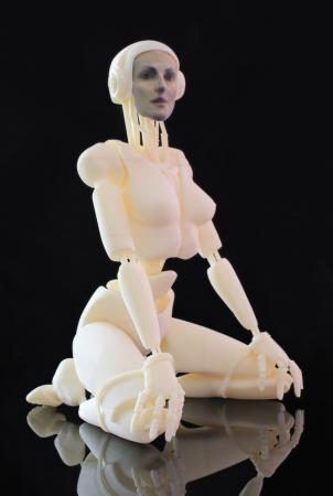 CyberLesson #32, escultura impresión 3D de la artista francesa France Cadet