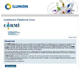 Imagen de la web con la encuesta del CERMI