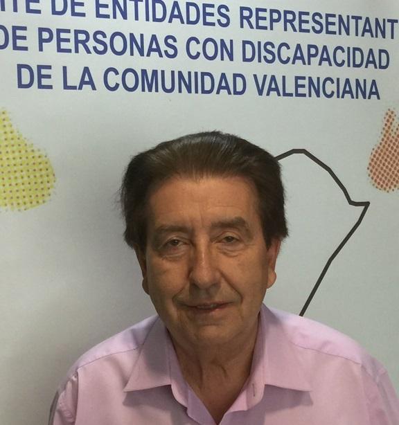 Joan Planells, presidente del CERMI Comunidad Valenciana (CERMI CV)