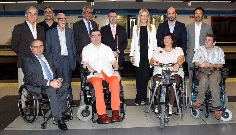 CERMI Comunidad de Madrid celebra el nuevo Plan de accesibilidad universal en Metro de Madrid
