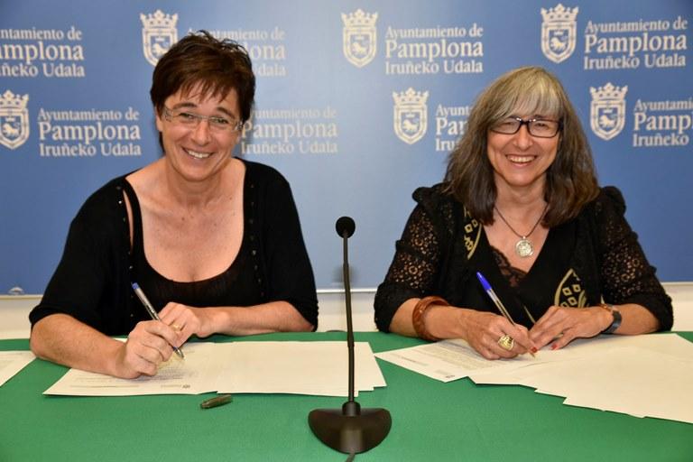 El Ayuntamiento de Pamplona y CERMIN firman un convenio para la difusión de actividades y servicios de las entidades que forman parte del Comité