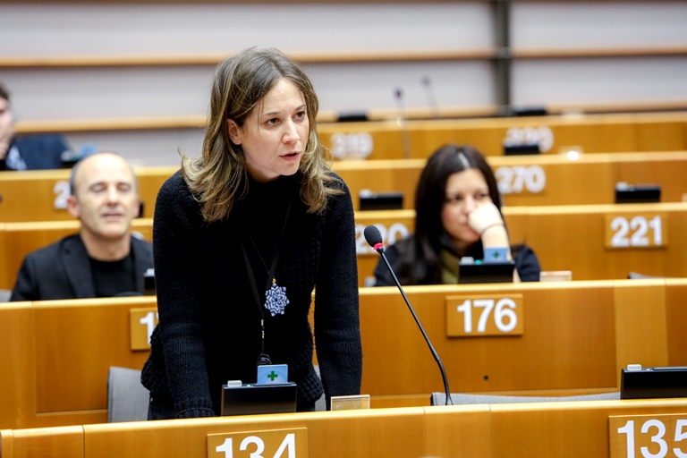 Marina Albiol, Diputada de Izquierda Unida en el Parlamento Europeo y portavoz de la delegación de la Izquierda Plural