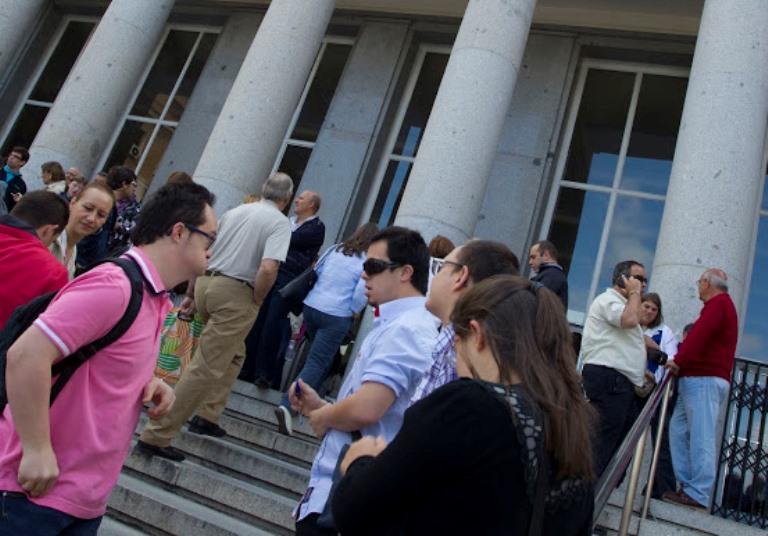 Opositores con discapacidad intelectual preparados para el examen
