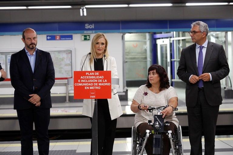 Momento de la presentación del Plan de Accesibilidad e Inclusión de Metro de Madrid