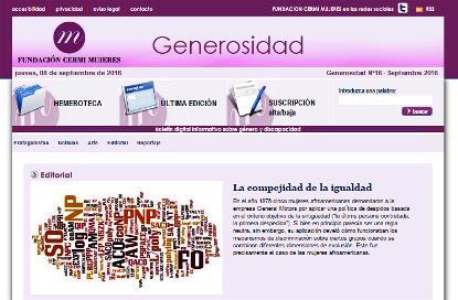 Imagen del boletín 'Generosidad' Nº 16