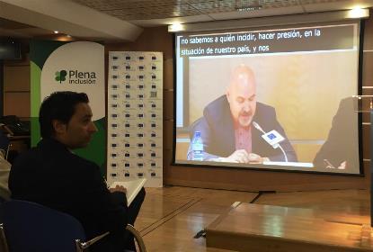 """El presidente del CERMI, Luis Cayo Pérez Bueno, en la presentación del Estudio """"Tercer Sector y Provisión de Servicios"""""""
