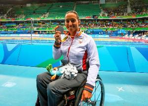 Teresa Perales concluyó sus quintos Juegos con un total de cuatro medallas (oro en 50 metros espalda y plata en 200 metros estilos y 100 y 200 metros libres)