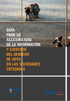 Portada de la Guía para la accesibilidad de la información y ejercicio del derecho de voto en las sociedades cotizadas