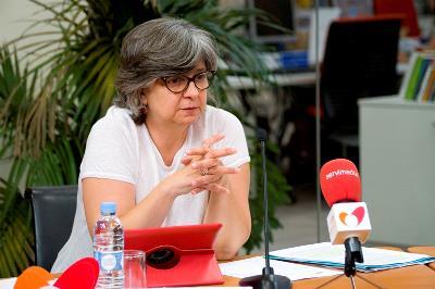 Paloma López Bermejo, eurodiputada de Izquierda Unida en la Comisión de Industria, Energía y Turismo del Parlamento Europeo