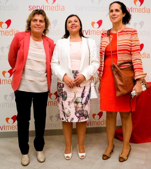 María Soledad Cisternas Reyes, presidenta del Comité de los derechos de las personas con discapacidad y abogada, junto a Ana Peláez y Teresa Palahí