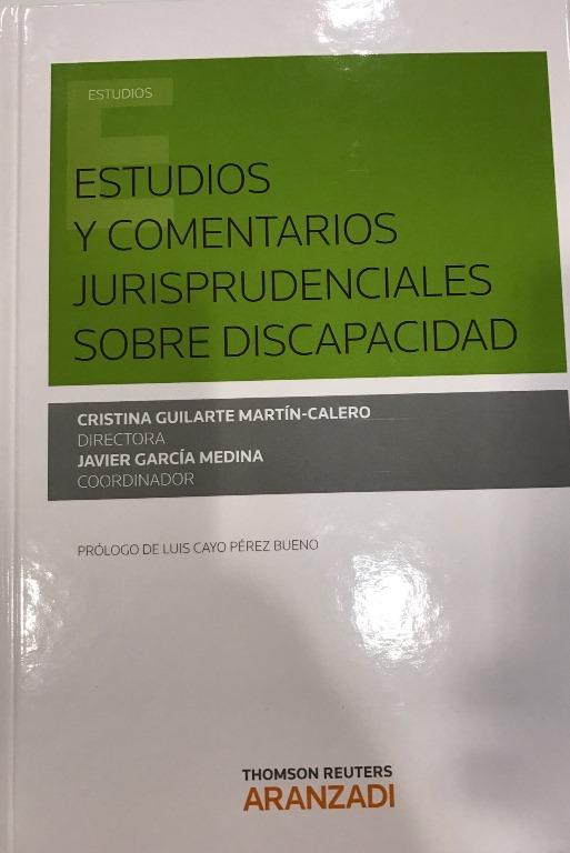 Portada de 'Estudios y comentarios jurisprudenciales sobre discapacidad'