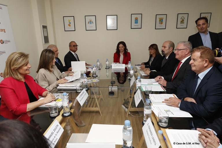 Reunión de trabajo de S.M. la Reina Leticia con Salum Mental España