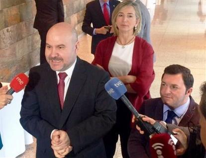 El presidente del CERMI, Luis Cayo Pérez Bueno, en el congreso de Valladolid