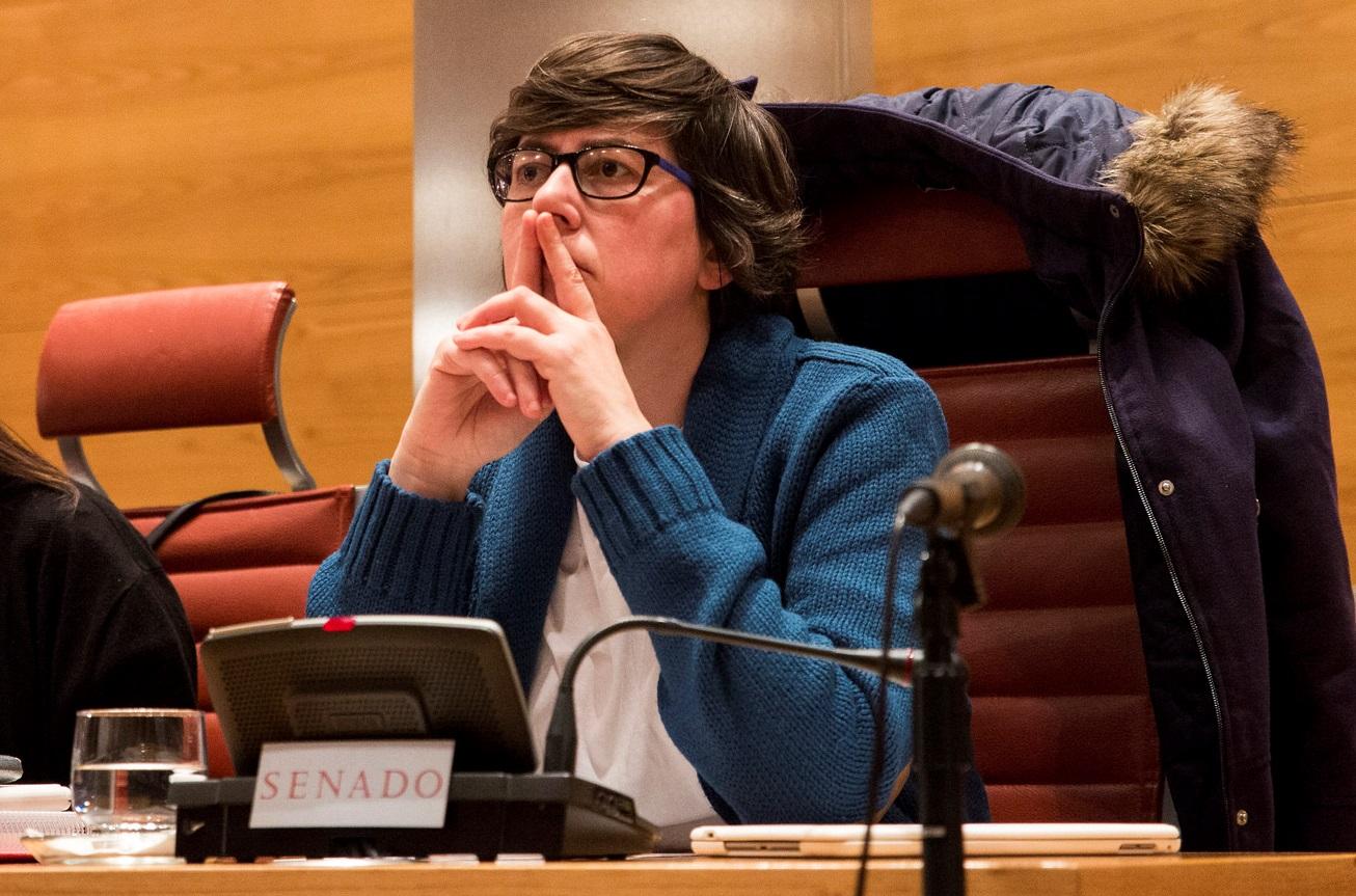 María Pilar Lima González, senadora de G. P. de Unidos Podemos