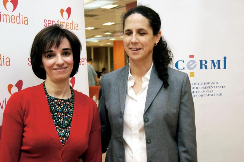 Pilar Villarino, directora ejecutiva del CERMI y Ana Peláez, comisionada de Género del CERMI