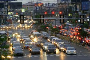 Una ciudad llena de coches