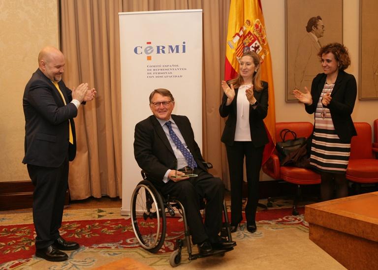 """El CERMI nombra a Francisco Vañó 'Amigo de la Discapacidad' por su """"importante"""" labor en materia de inclusión"""