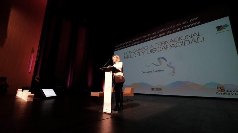 Alicia García, consejera de Familia e Igualdad de Oportunidades de la Junta de Castilla y León, en la inauguración del congreso