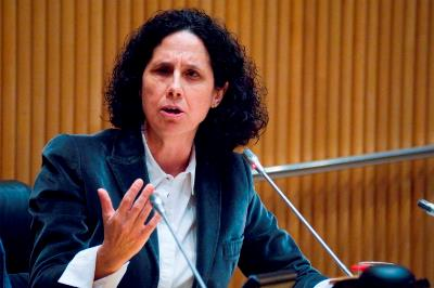 Ana Peláez durante su intervención en la I Conferencia Sectorial de Mujeres con Discapacidad
