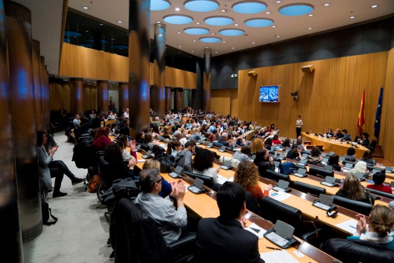 Momento durante la I Conferencia Sectorial de Mujeres con Discapacidad