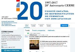 La cuenta oficial del CERMI en Twitter alcanza los 19.000 seguidores