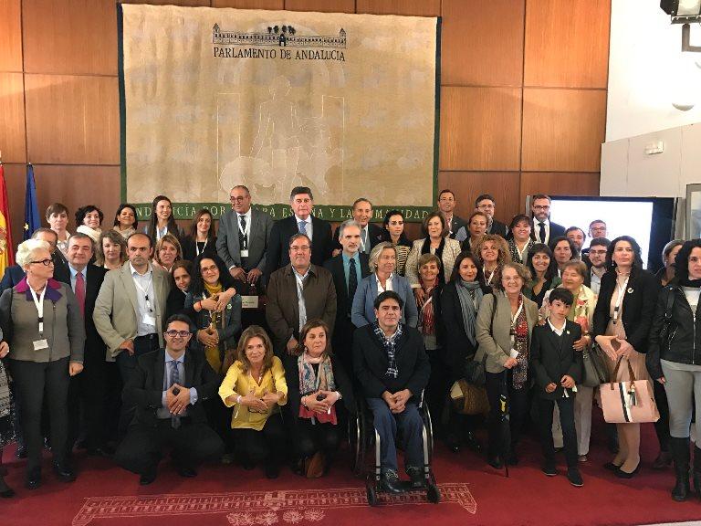 CERMI Andalucía y la delegación andaluza de FEDER conmemoran en el Parlamento el Día Mundial de las Enfermedades Raras